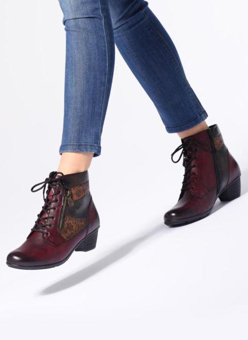 Bottines et boots Remonte Marlène R7570 Bordeaux vue bas / vue portée sac