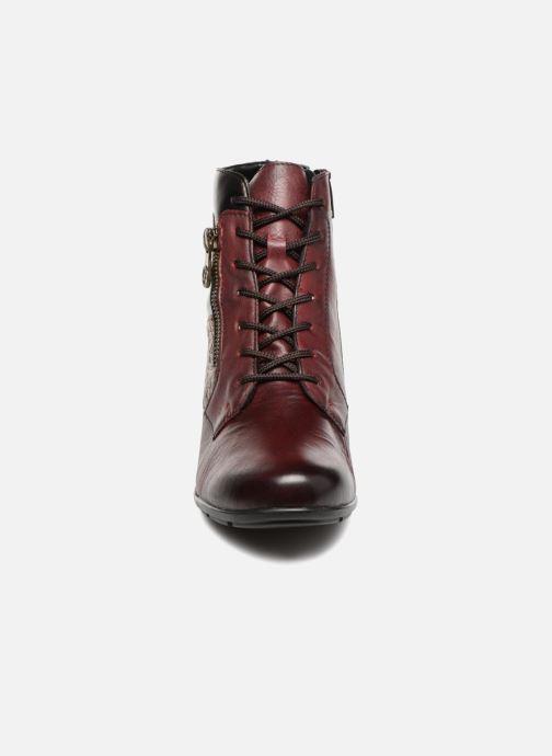 Bottines et boots Remonte Marlène R7570 Bordeaux vue portées chaussures