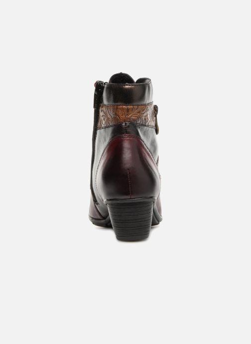Bottines et boots Remonte Marlène R7570 Bordeaux vue droite
