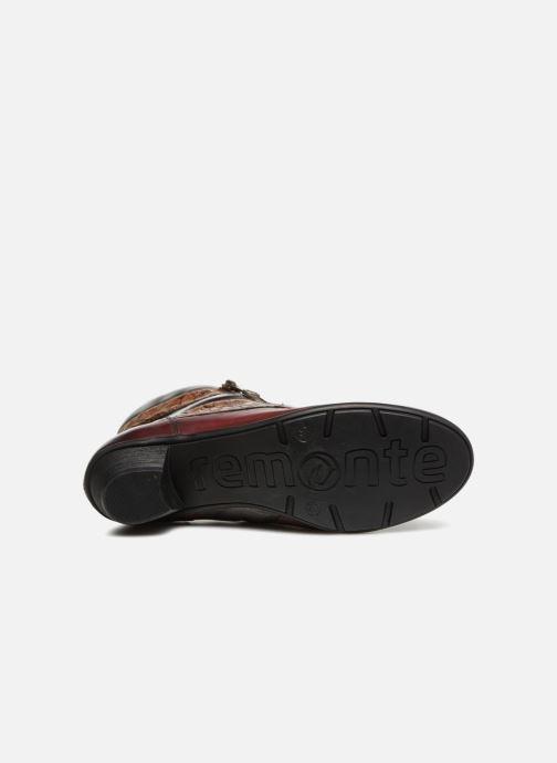 Bottines et boots Remonte Marlène R7570 Bordeaux vue haut
