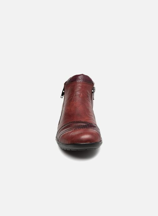 Stiefeletten & Boots Remonte Mathéa R7671 weinrot schuhe getragen