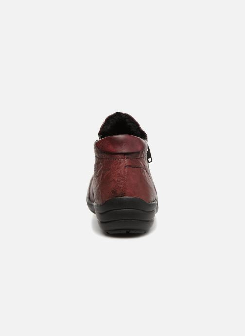 Ankle boots Remonte Mathéa R7671 Burgundy view from the right