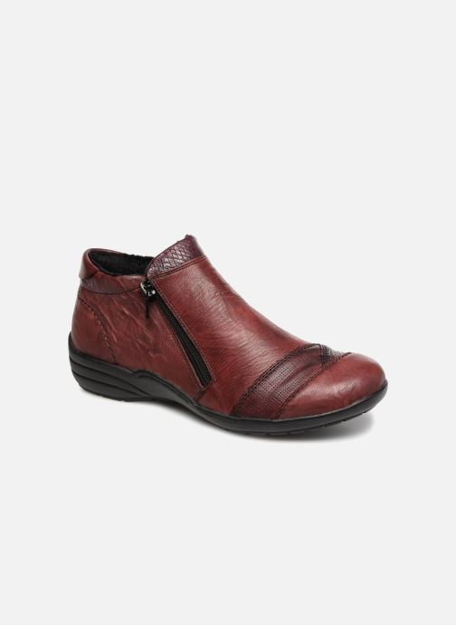 Ankle boots Remonte Mathéa R7671 Burgundy detailed view/ Pair view