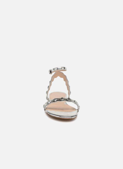 Sandales et nu-pieds Aldo AMELIE Argent vue portées chaussures