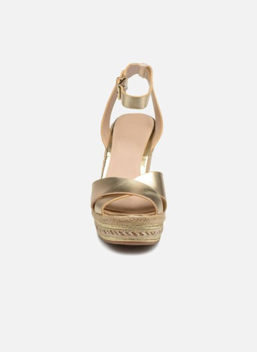 Espadrilles Aldo CLODIA Or et bronze vue portées chaussures