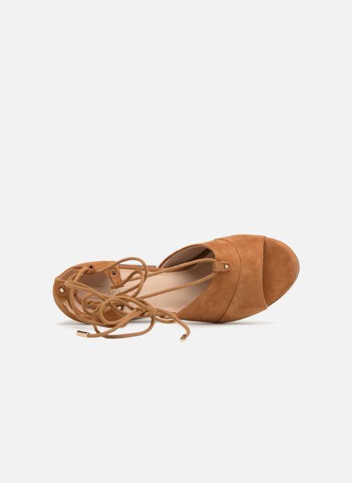 Sandales et nu-pieds Aldo LAYMA Marron vue gauche