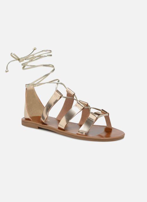 Sandales et nu-pieds Aldo XAVIERRA Or et bronze vue détail/paire