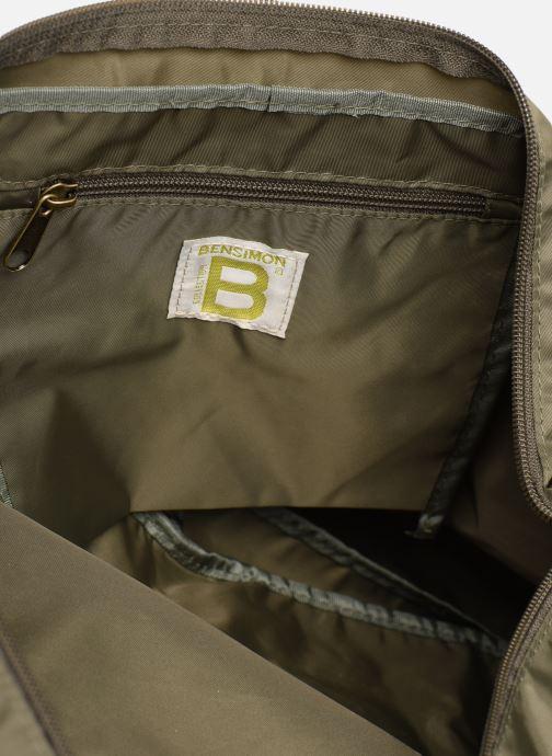 Handbags Bensimon COLOR LINE SHOULDER BAG Green back view