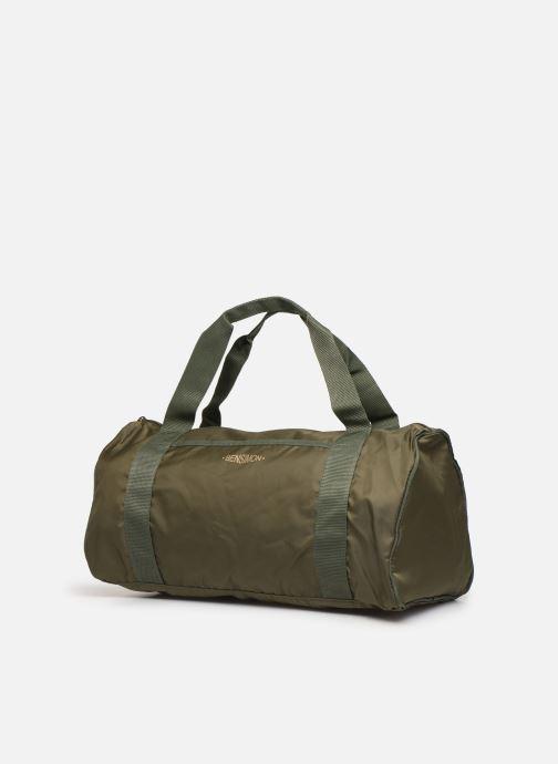Borsa da palestra Bensimon COLOR LINE COLOR BAG Verde modello indossato