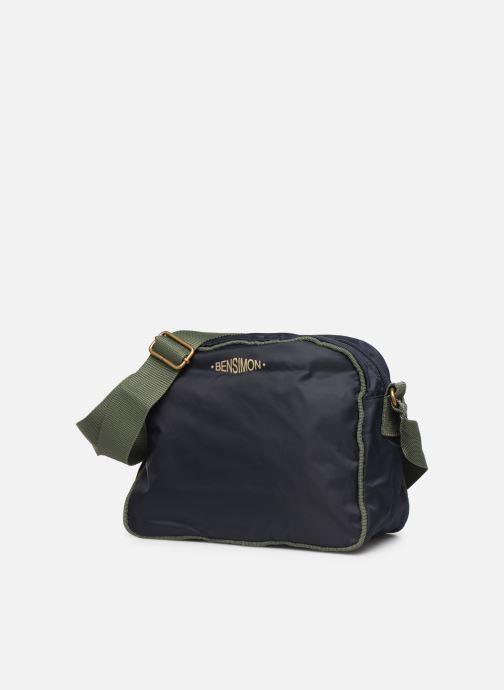 Borse Bensimon COLOR LINE SMALL BESACE BAG Azzurro modello indossato