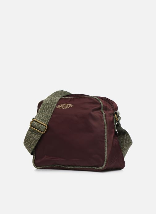 Sacs à main Bensimon COLOR LINE SMALL BESACE BAG Violet vue portées chaussures