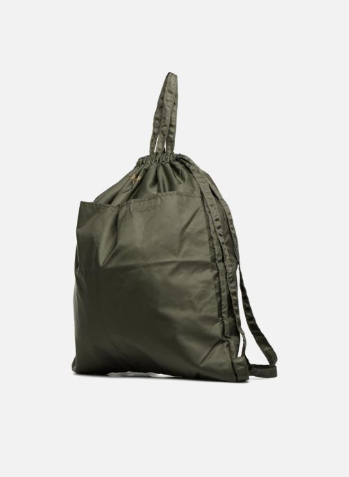 Zaini Bensimon SLIDING BAG Verde modello indossato