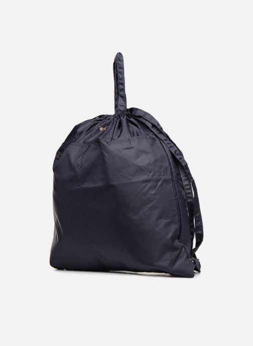 Zaini Bensimon SLIDING BAG Azzurro modello indossato