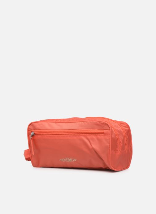 Bagages Bensimon TRAVEL LINE TOILETRY Rose vue portées chaussures