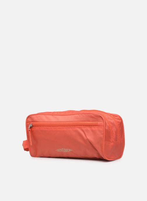 Reisegepäck Bensimon TRAVEL LINE TOILETRY rosa schuhe getragen