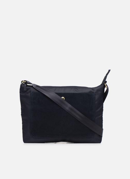 Handbags Bensimon MAT & SHINY LINE MINI BAG Blue front view