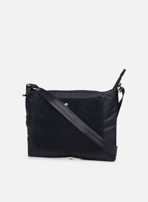 Handbags Bensimon MAT & SHINY LINE MINI BAG Blue view from the right
