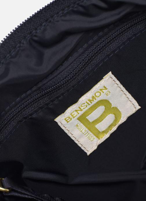 Handbags Bensimon MAT & SHINY LINE MINI BAG Blue back view