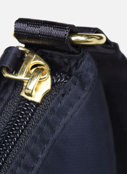 Handbags Bensimon MAT & SHINY LINE MINI BAG Blue view from the left