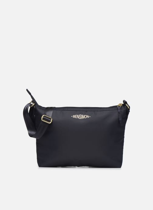 Handbags Bensimon MAT & SHINY LINE MINI BAG Blue detailed view/ Pair view