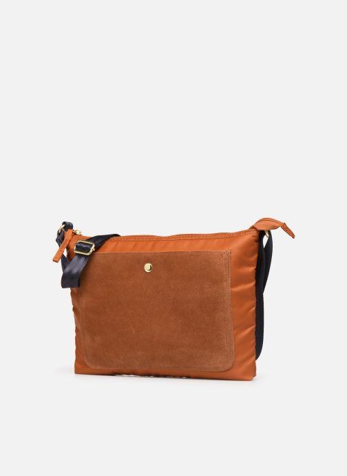 Handbags Bensimon MAT & SHINY LINE MINI BAG Brown model view