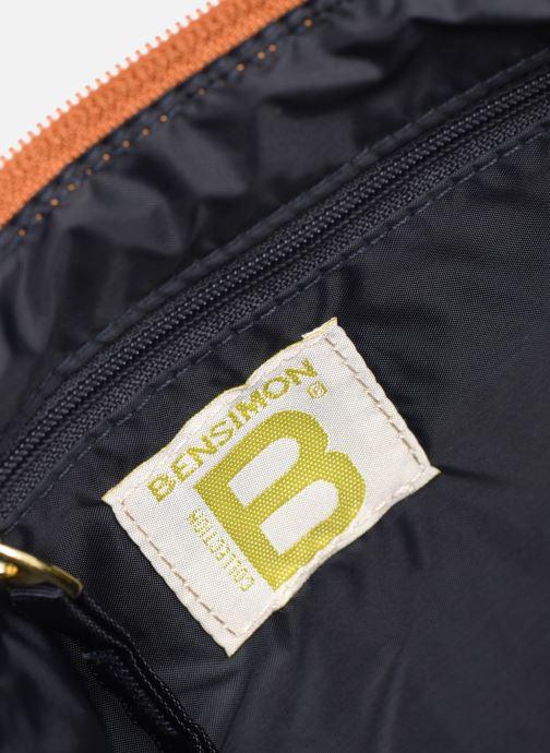 Handbags Bensimon MAT & SHINY LINE MINI BAG Brown back view