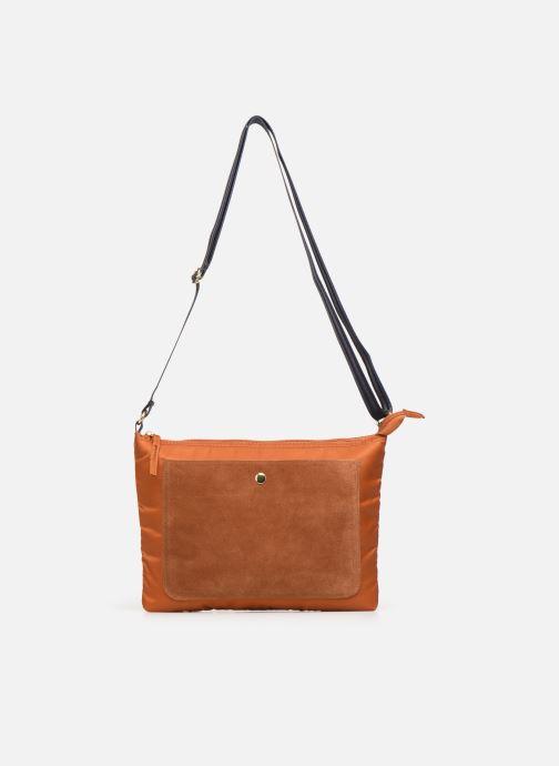 Handbags Bensimon MAT & SHINY LINE MINI BAG Brown view from the left