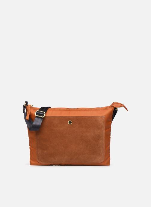 Handbags Bensimon MAT & SHINY LINE MINI BAG Brown detailed view/ Pair view