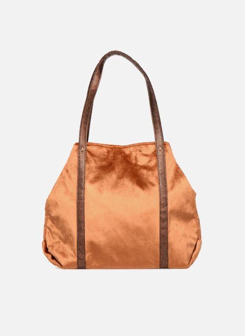 Handbags LPB Woman SHOPPER VELOURS Brown front view