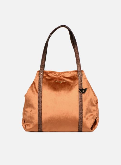 Handbags LPB Woman SHOPPER VELOURS Brown detailed view/ Pair view