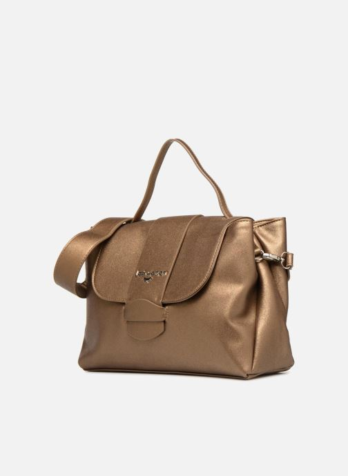 Handbags LPB Woman DOUBLE PORTE Bronze and Gold model view