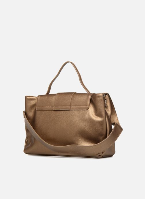 Handbags LPB Woman DOUBLE PORTE Bronze and Gold view from the right