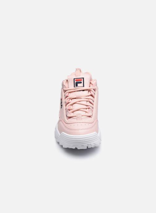 Sneaker FILA Disruptor Kids rosa schuhe getragen