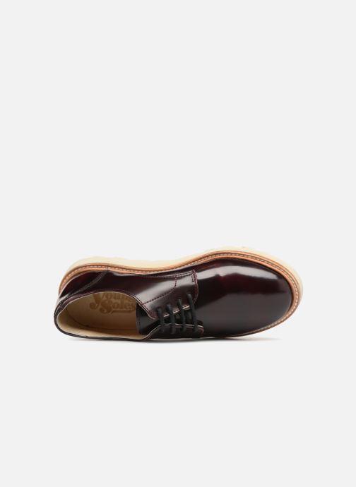 Chaussures à lacets Young Soles Reggie Bordeaux vue gauche