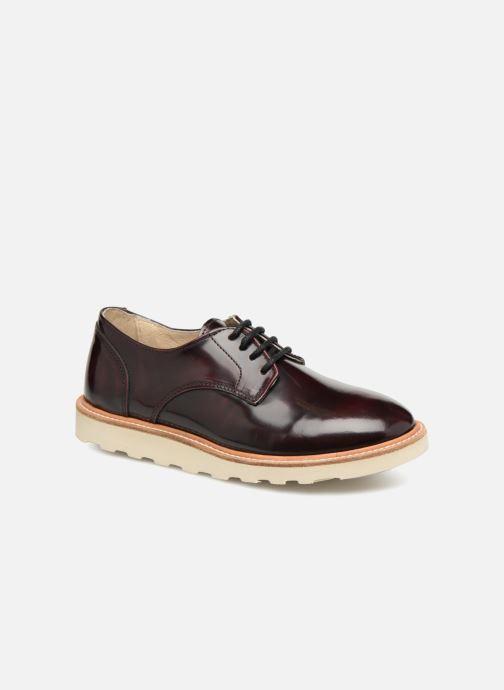 Chaussures à lacets Young Soles Reggie Bordeaux vue détail/paire