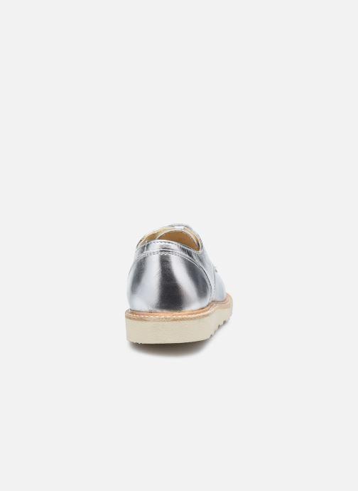 Zapatos con cordones Young Soles Reggie Plateado vista lateral derecha