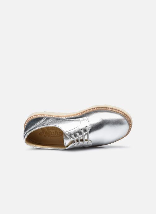 Scarpe con lacci Young Soles Reggie Argento immagine sinistra