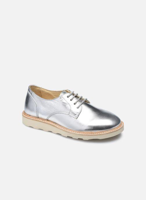 Zapatos con cordones Young Soles Reggie Plateado vista de detalle / par