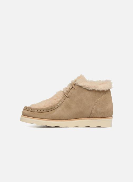 Zapatos con cordones Young Soles Joey Fur Beige vista de frente