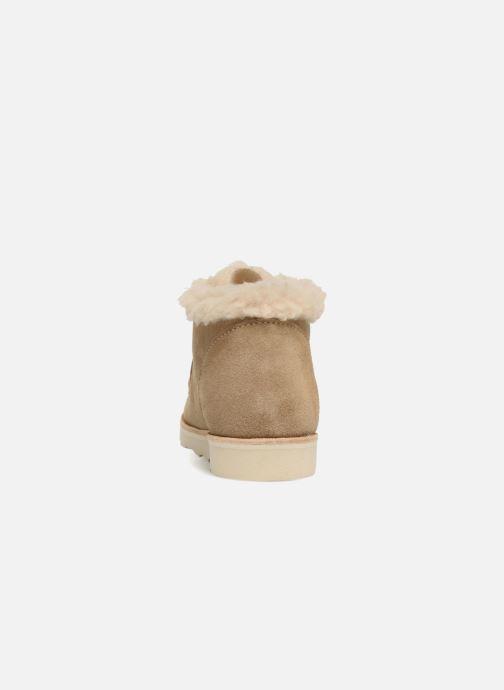 Zapatos con cordones Young Soles Joey Fur Beige vista lateral derecha
