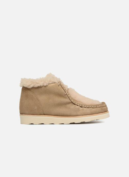 Zapatos con cordones Young Soles Joey Fur Beige vistra trasera