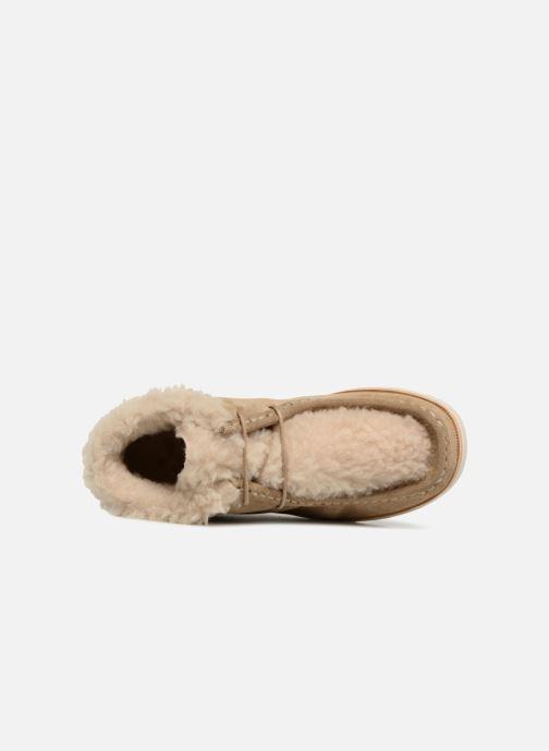 Zapatos con cordones Young Soles Joey Fur Beige vista lateral izquierda