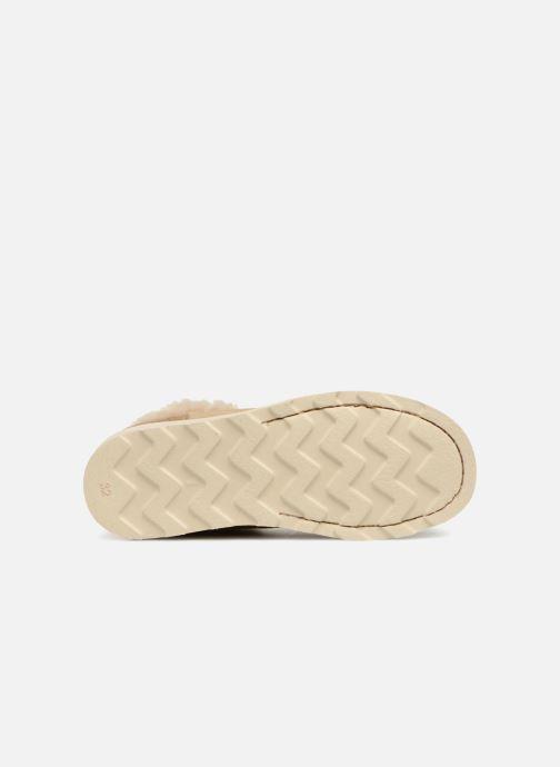 Zapatos con cordones Young Soles Joey Fur Beige vista de arriba