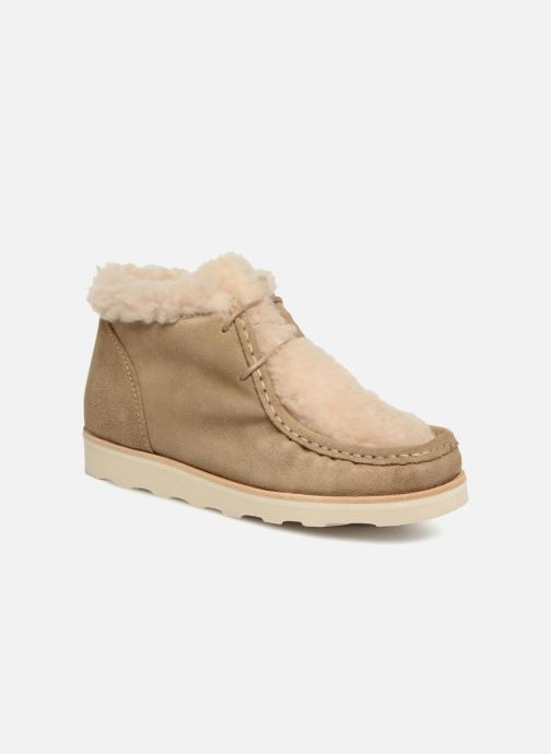 Zapatos con cordones Young Soles Joey Fur Beige vista de detalle / par