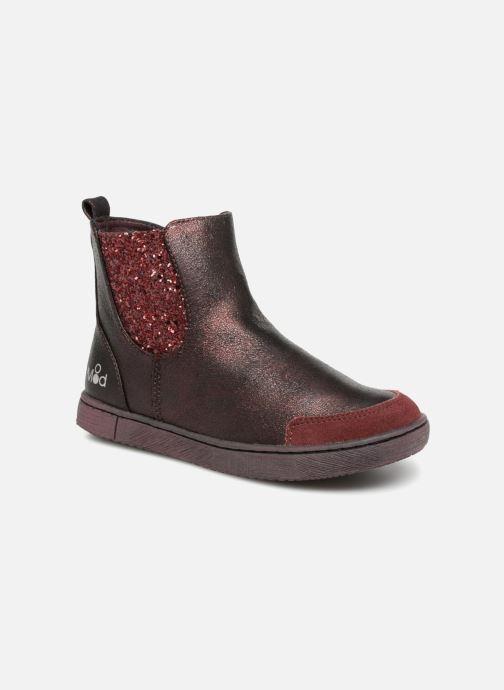 Bottines et boots Mod8 Blaba Bordeaux vue détail/paire