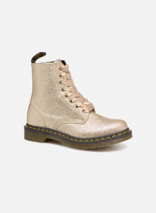 286cb42b764 Boots Dr. Martens 1460 Pascal Glitter Bronze och Guld detaljerad bild på  paret