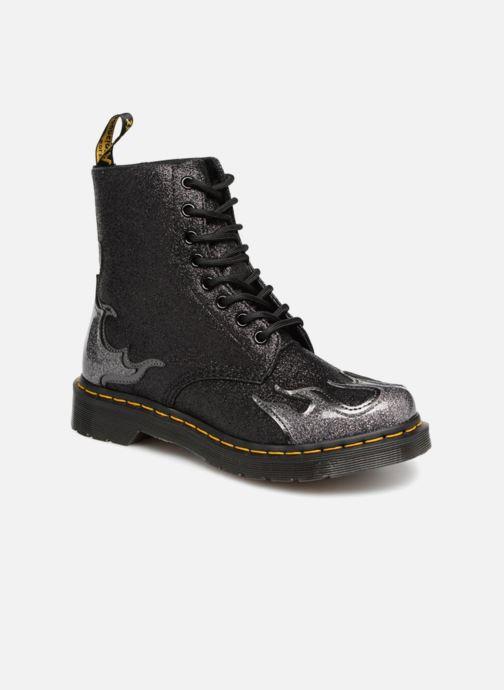 e54d1ccc22cf76 Stiefeletten   Boots Dr. Martens 1460 Pascal Flame schwarz detaillierte  ansicht modell