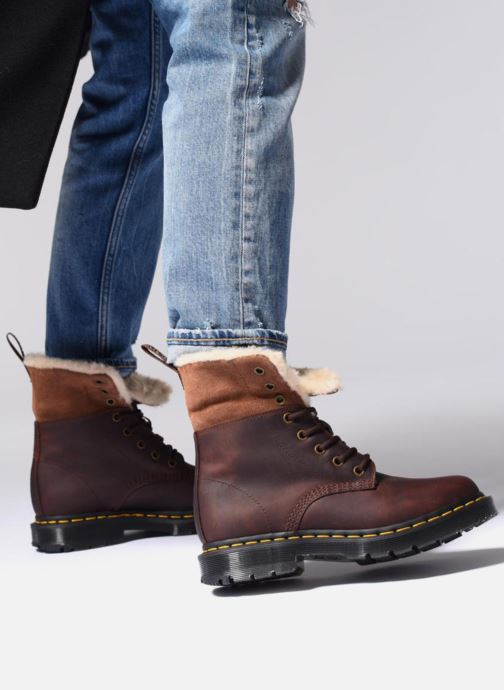 Bottines et boots Dr. Martens 1460 Kolbert Noir vue bas / vue portée sac