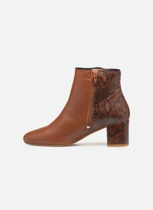 Ankle boots Bensimon Boots Bi-Matiere Brown front view