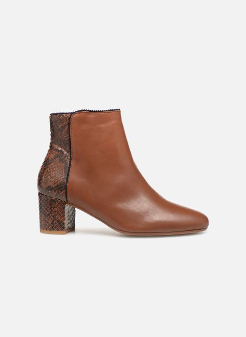 Ankle boots Bensimon Boots Bi-Matiere Brown back view